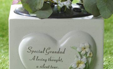 Heart Plant Memorial Grandad Vase