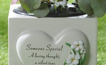 Heart Plant Memorial Someone Special Vase