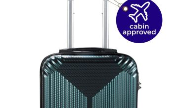 ABS Dogtooth Suitcase