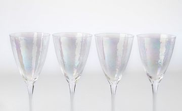 Set of 4 Clear Lustre Wine Glasses