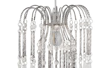 Chrome and Clear Easy Fit Acrylic Light Shade