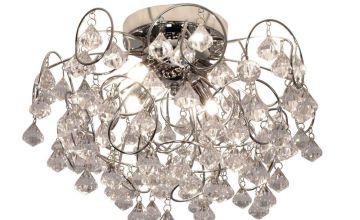 Sassari 4 Light Chrome Crystal Effect Chandelier