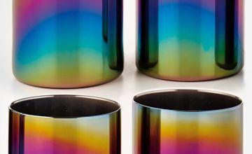 Set of 4 Iridescent Glass Tumblers