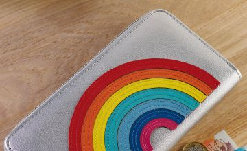Rainbow Zip Around Purse