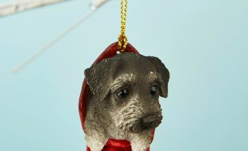 Schnauzer Pet Pal Hanging Stocking Decoration