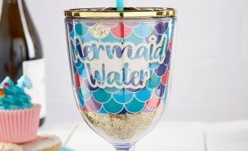 Mermaid Travel Wine Glass