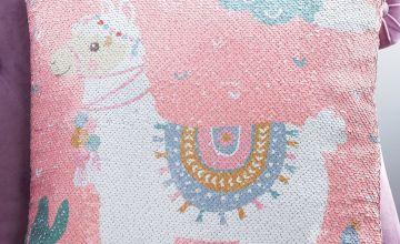 Llama Sequin Cushion