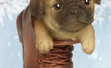 Pug Pet Pal Hanging Boot Ornament