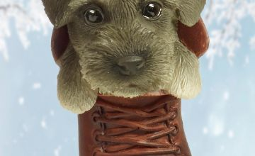 Schnauzer Pet Pal Hanging Boot Ornament
