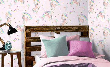 Rainbow Unicorn Pink Wallpaper