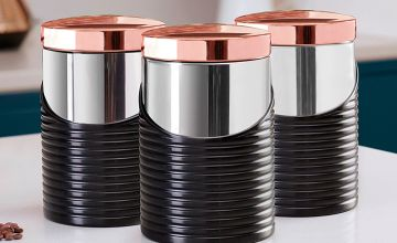 Tower Linear Set of 3 Canisters