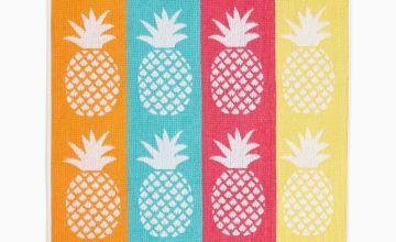 Pineapple Jacquard Hand and Bath Towel