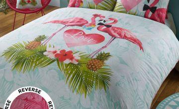 Flamingo Love Double Duvet Set