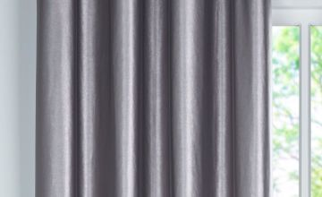 Leather Look Panel Lined Eyelet Curtain