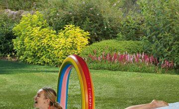 Inflatable Rainbow Water Slide