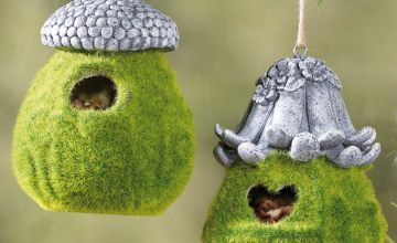 Set of 2 Moss Effect Bird Feeders