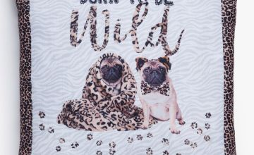Born To Be Wild Pug Cushion Cover