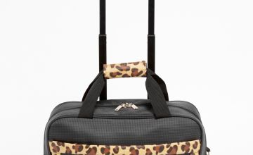 Leopard Travel Trolley Suitcase