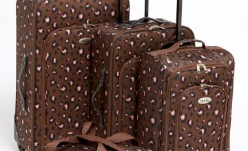 4-Piece Leopard Luggage Set