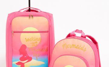 Mermaid Trolley 2-Piece Luggage Set