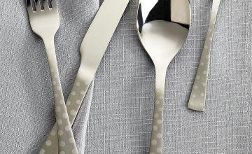 16-Piece Stainless Steel Polka Dot Cutlery Set