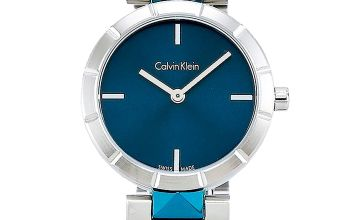 Calvin Klein Edge Blue Dial Large Studded Watch