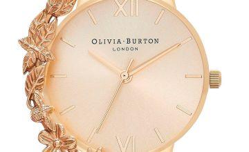 Olivia Burton Case Cuffs Gold + Nude Watch