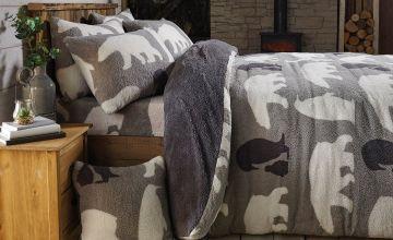 Ultra Cosy Winter Animals Teddy Fleece Duvet Set