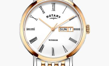 Rotary Gents Windsor Two Tone Gold Plated Watch