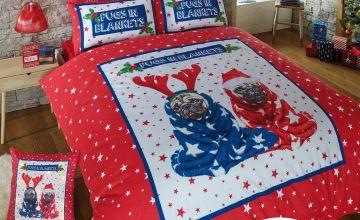 Pugs in Blankets Duvet Set