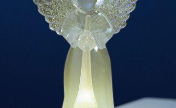 LED Colour Change Mini Angel Decoration