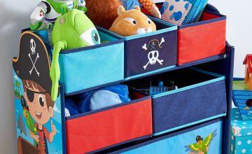 Pirate Wooden Storage Rack