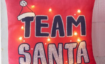 Team Santa Light Up Filled Cushion