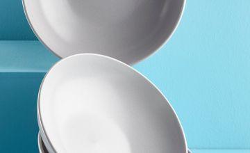 Set of 4 Stoneware Pasta Bowls