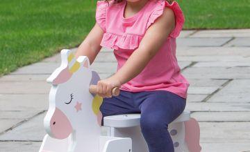 Unicorn Wooden Ride On