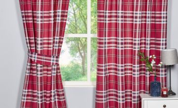 Kelso Berry Lined Curtains