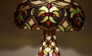 Anita Tiffany Twin Bulb Table Lamp