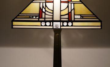 Khufu Tiffany Pyramid Table Lamp