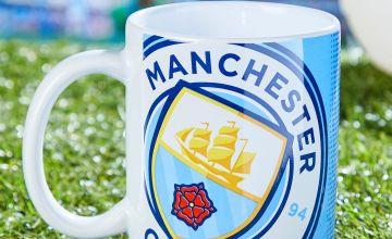 Man City Half Tone Mug