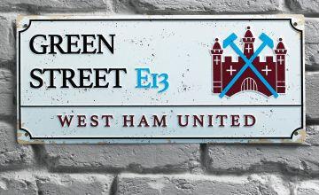 West Ham Utd Retro Street Sign