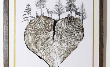 Gold Heart Framed Print