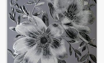 Grey Flower Canvas
