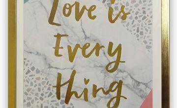 Terrazzo Love Framed Print