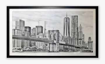 City Drawn Framed Print