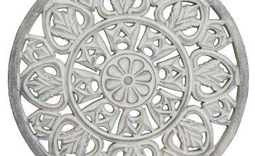 White Washed Wood Effect Medallion