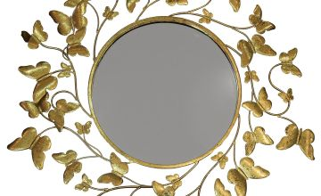 Metallic Gold Butterflies Mirror