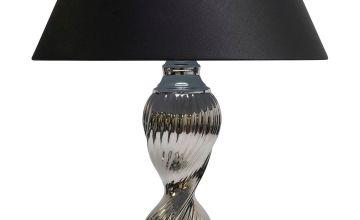 Twirl Chrome Table Lamp