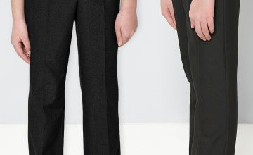 Pack of 2 Adjustable Waist Trousers