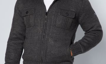 Dissident Lined Knit Sherpa Jacket