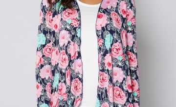 Floral Print Waterfall Cardigan
